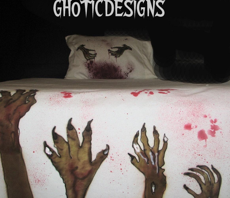 Twin Size Zombie Bedding