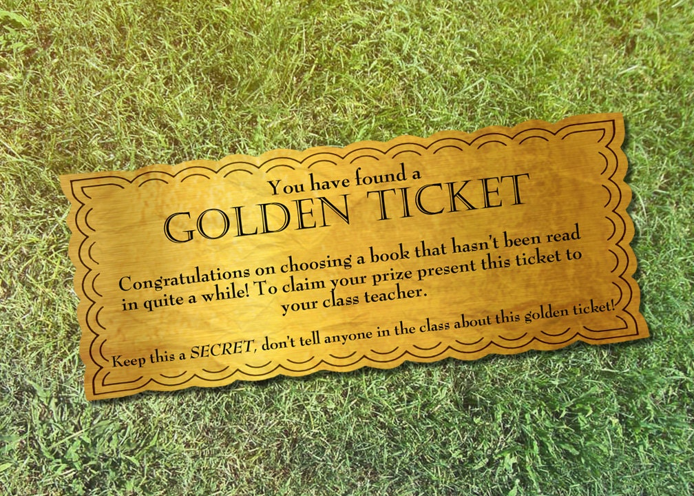 Editable Golden Ticket Template | April Calendar | April Calendar