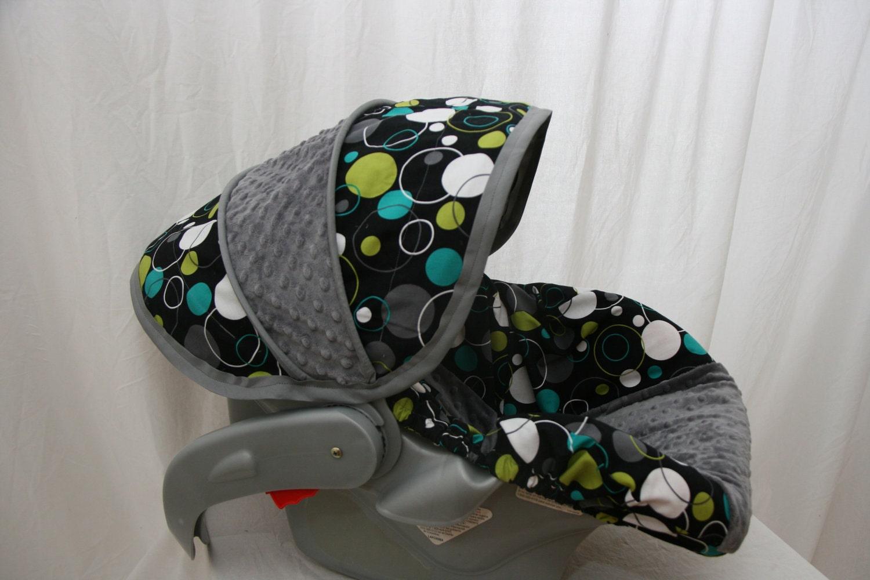 Minky Dot Infant Car Seat Cover