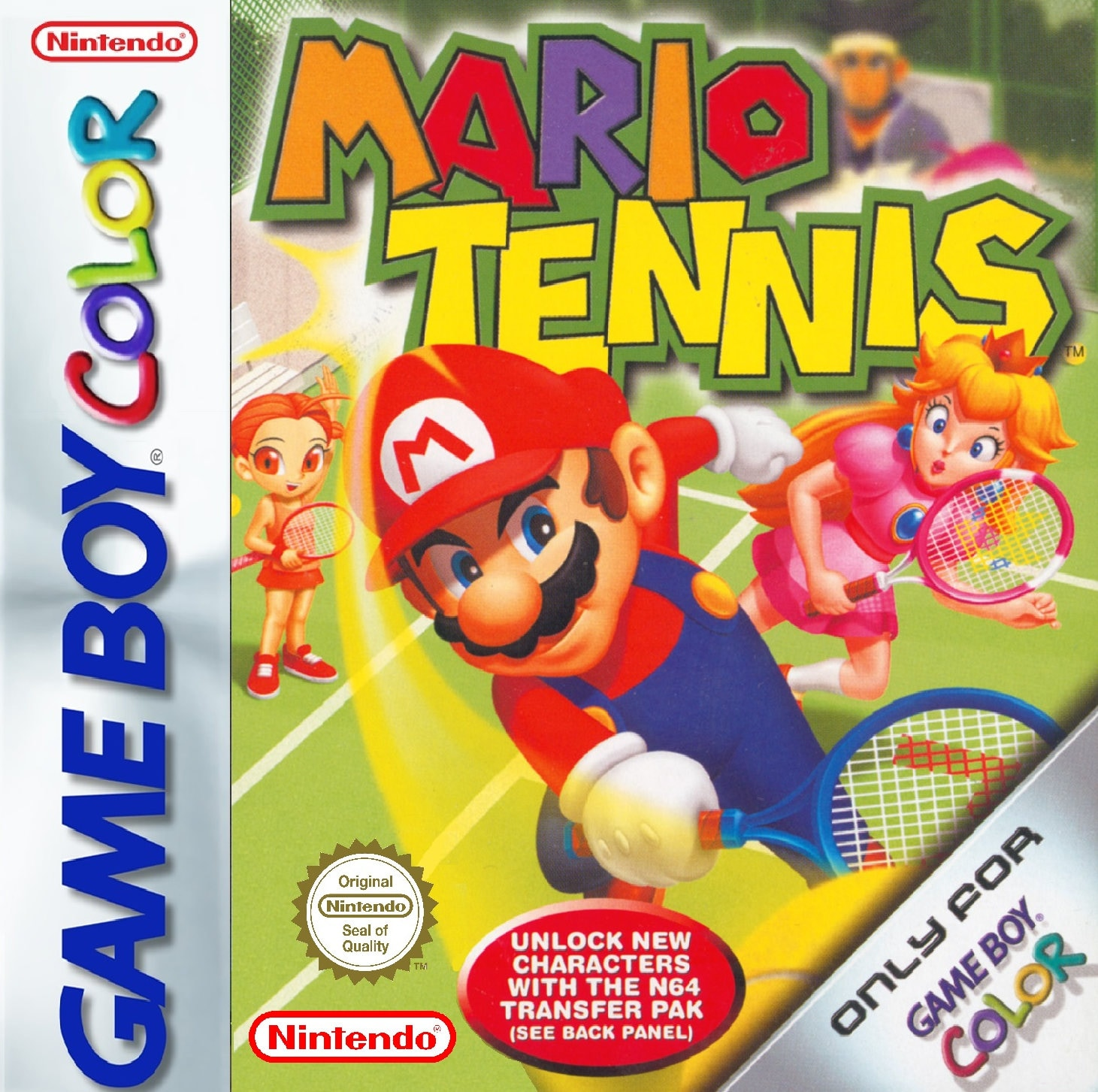 GameBoy Colour Mario Tennis  Repro Box  Insert NO GAME Included