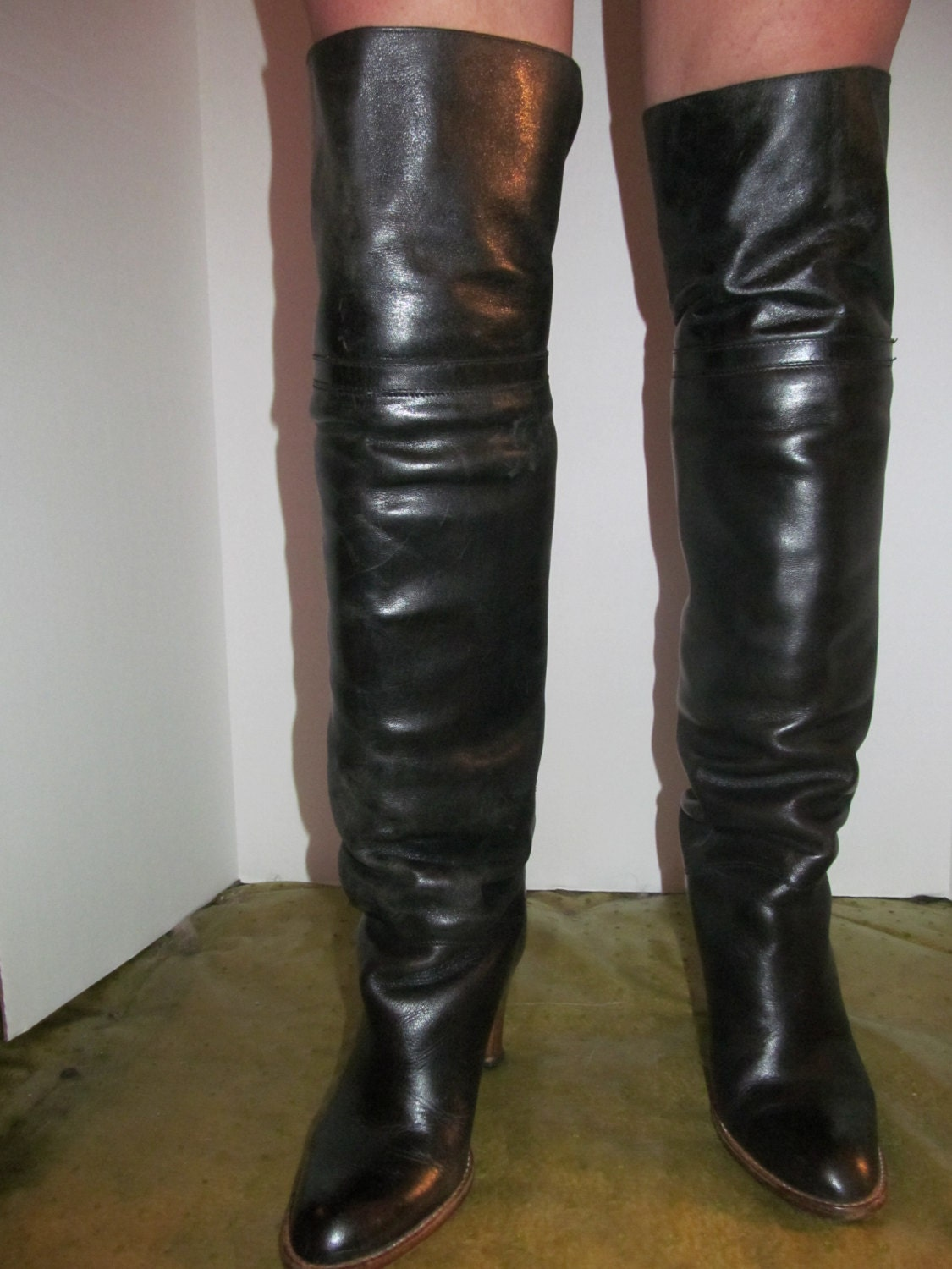 items similar to vintage 70 s thigh high boots sz 8