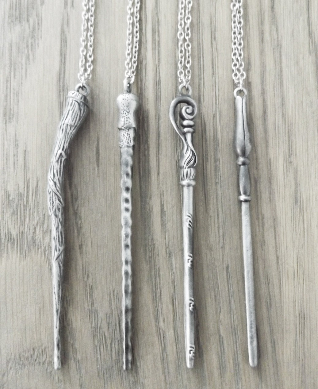 Harry Potter Wand Necklaces  Bellatrix Lestrange Ron Weasley Fleur Delacour and Luna Lovegood