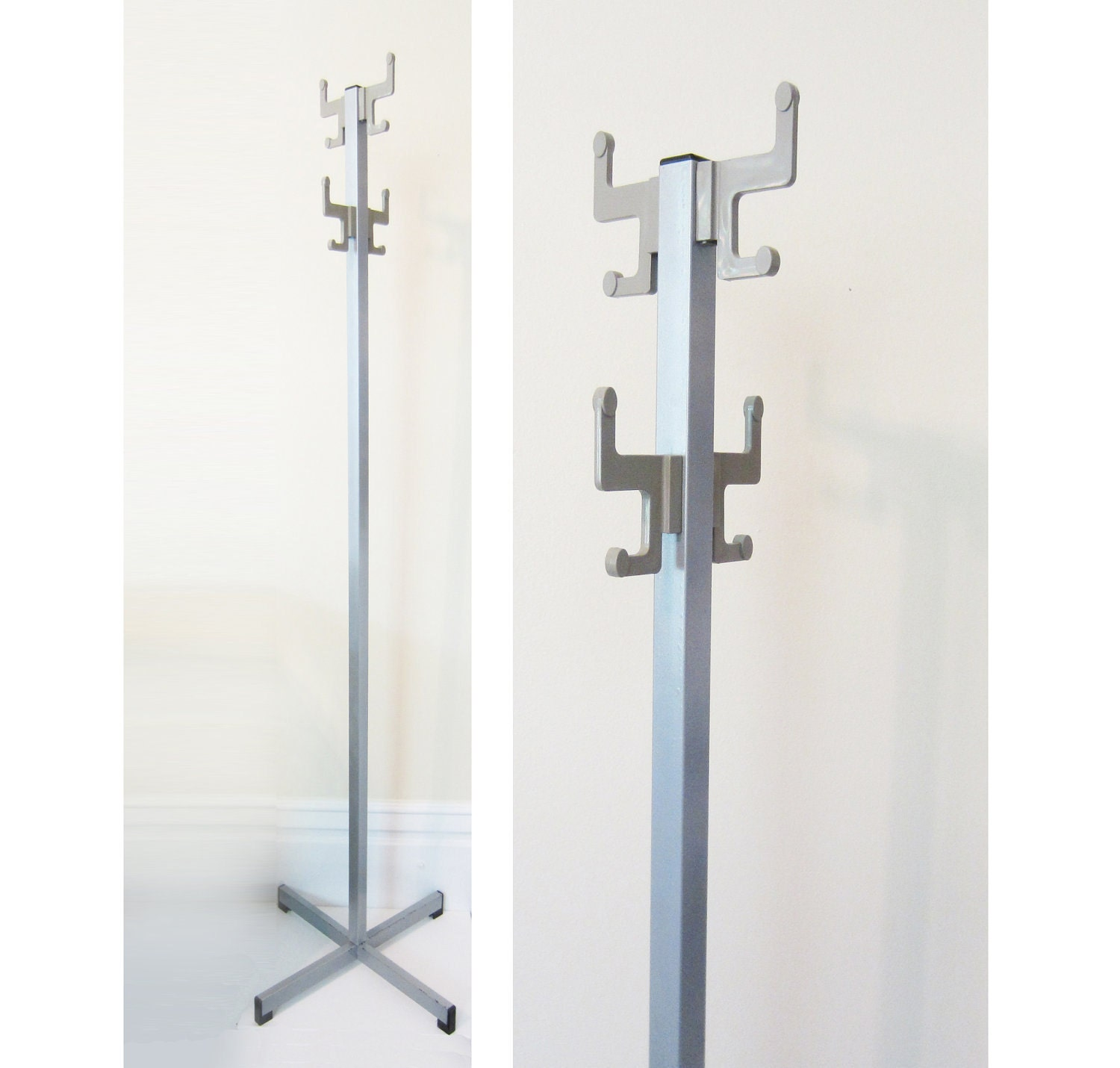 Vintage industrial freestanding metal coat rack by theeletterq - Adding character to your hallway with a hall tree ...