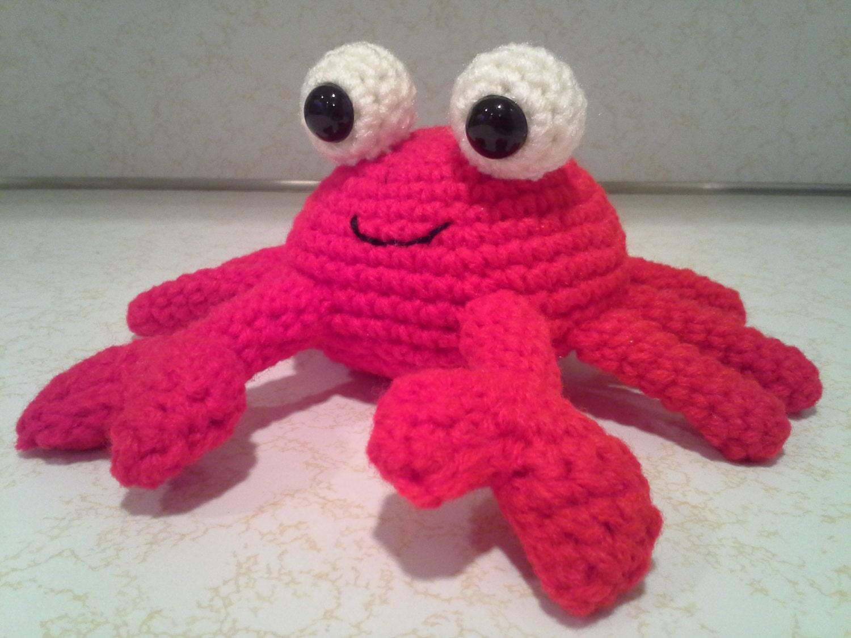 Amigurumi Stuffed Animals : Crab Crochet Amigurumi Stuffed Animal Plush Red by ...