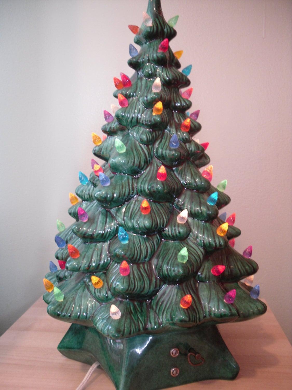 Porcelain Lighted Christmas Tree