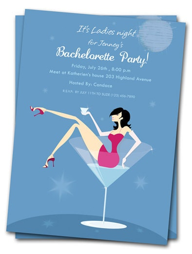 Printable girls night out cocktail invites by the party stork on etsy