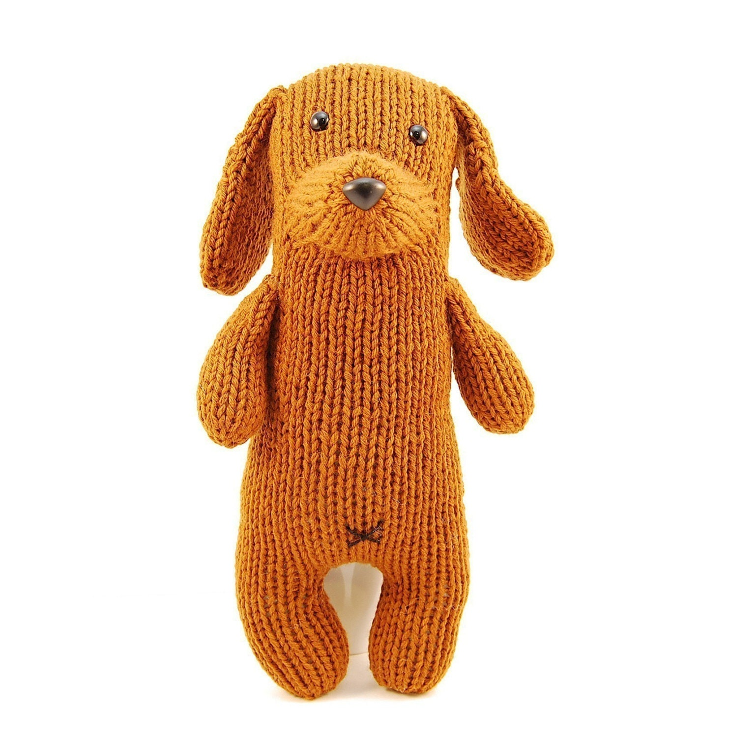 Knitted Dachshund Pattern : Tofu the Gentle Dachshund Knitting Pattern Pdf by dangercrafts