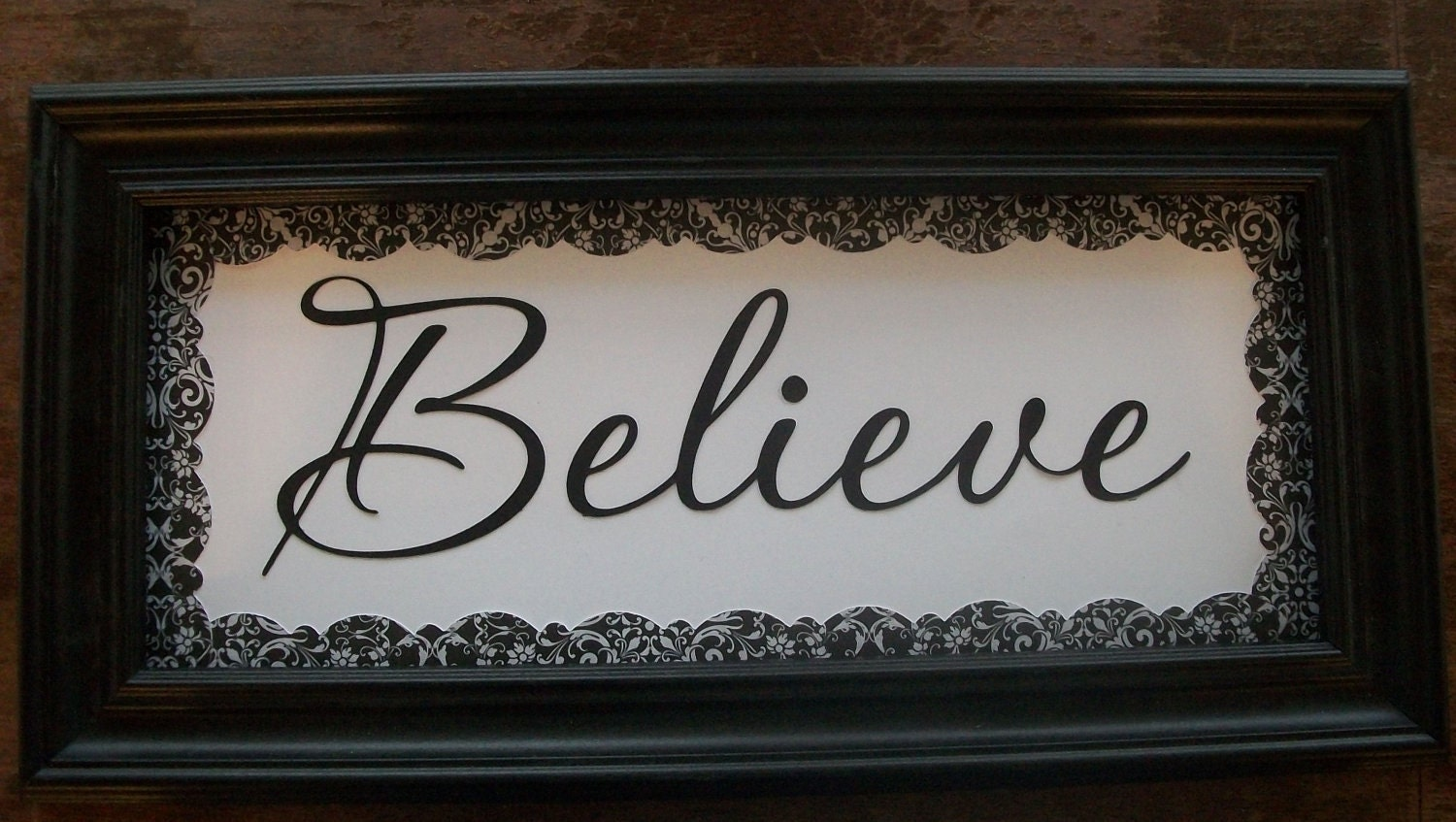 believe home decor sign inspirational wall by elainescrafts