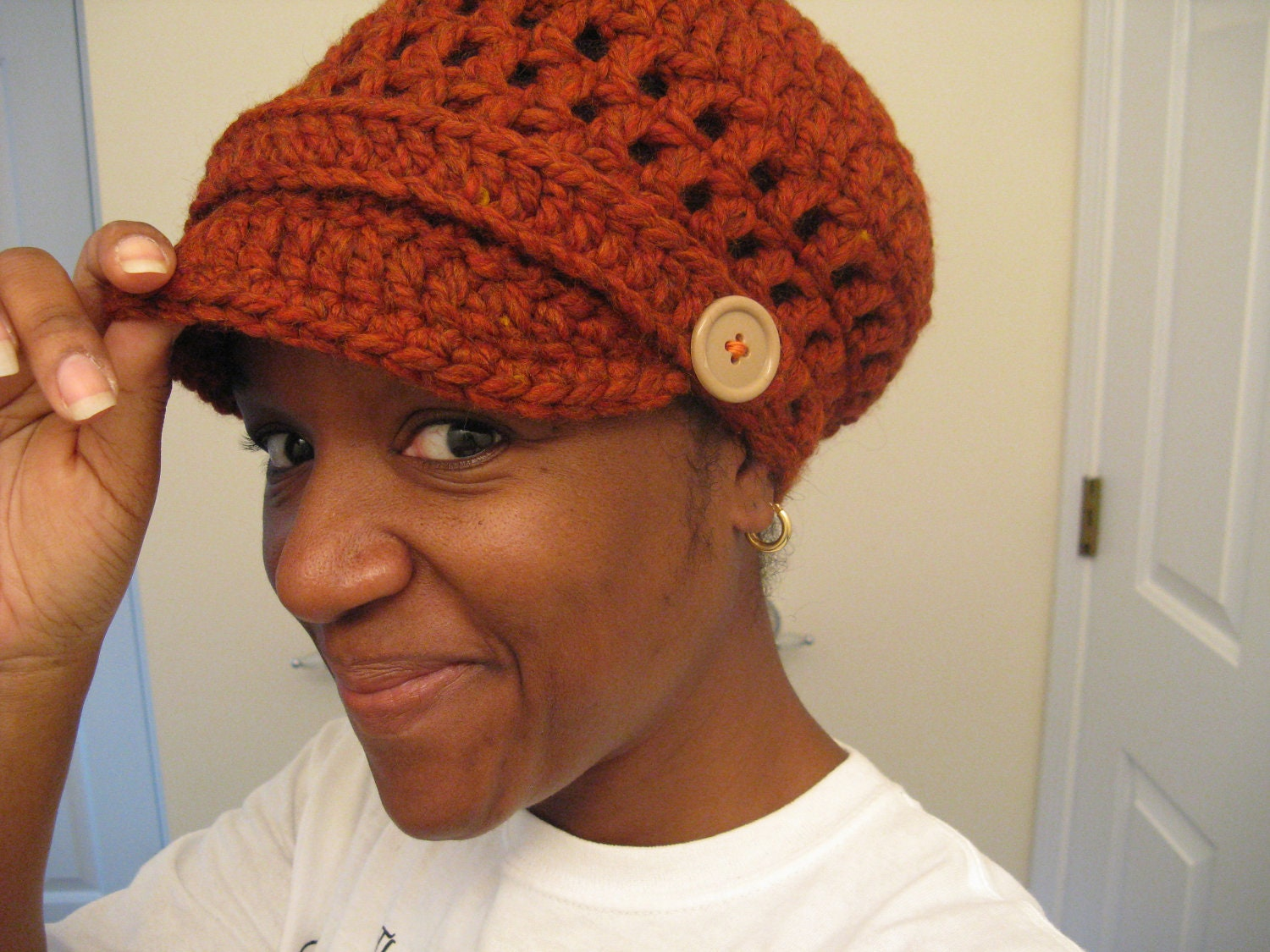 Puff Friendly Crochet Tam Hat - Made to order