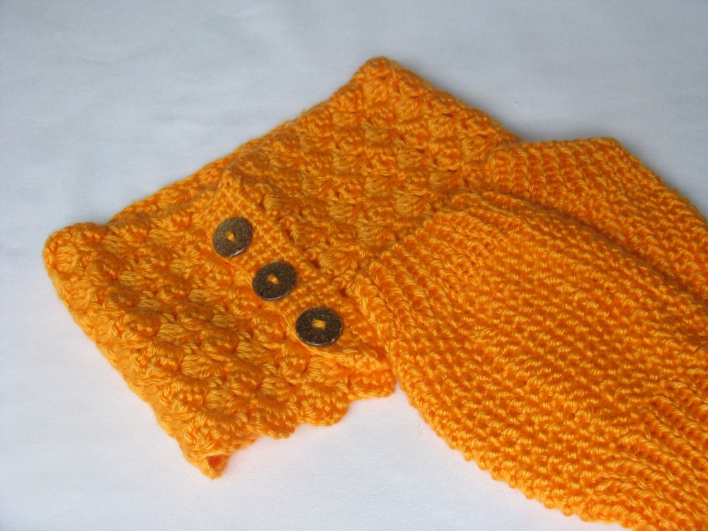 Crochet Wrist warmer & Knit Neck warmer Set
