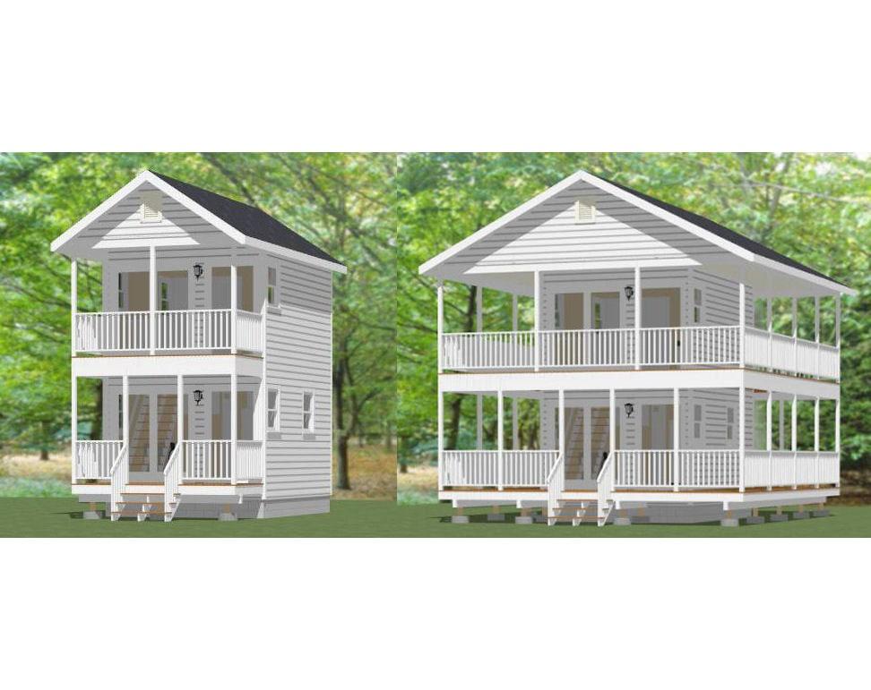 12x16 House W Loft Pdf Floor Plans 364 By Excellentfloorplans
