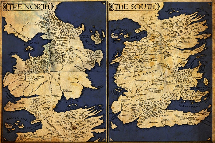 Mikey on etsy - Westeros map high resolution ...