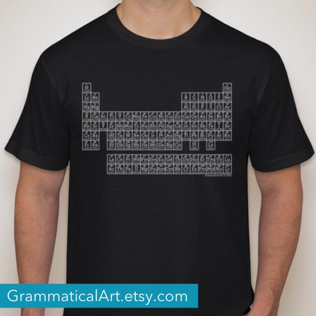 Periodic table shirt science shirt teacher gifts by for Custom periodic table t shirts
