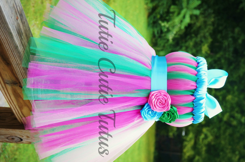 Items similar to Sweet Hot Pink, Green and Turqouise Tutu ... - photo #7