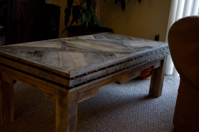 Paleta de madera de roble reciclado mesa de café