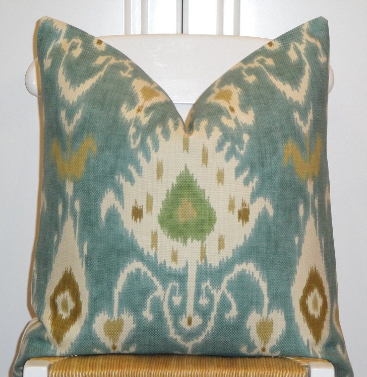 Ikat Throw Pillows Etsy : Decorative Pillow Cover 20x20 IKAT Throw by TurquoiseTumbleweed