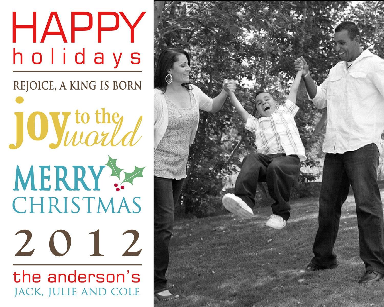 Delightful Order: Digital Custom Photo Christmas Cards On ...