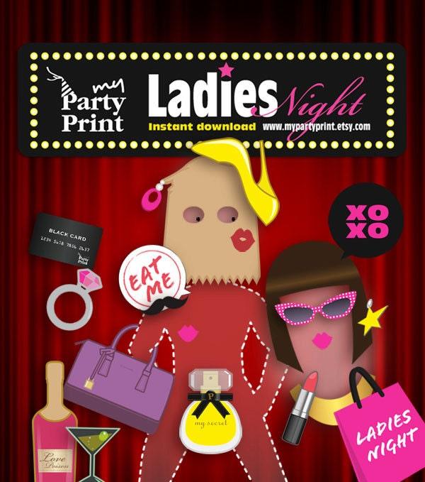 Bachelorette Party Photo Props Bachelorette Party Photo Booth