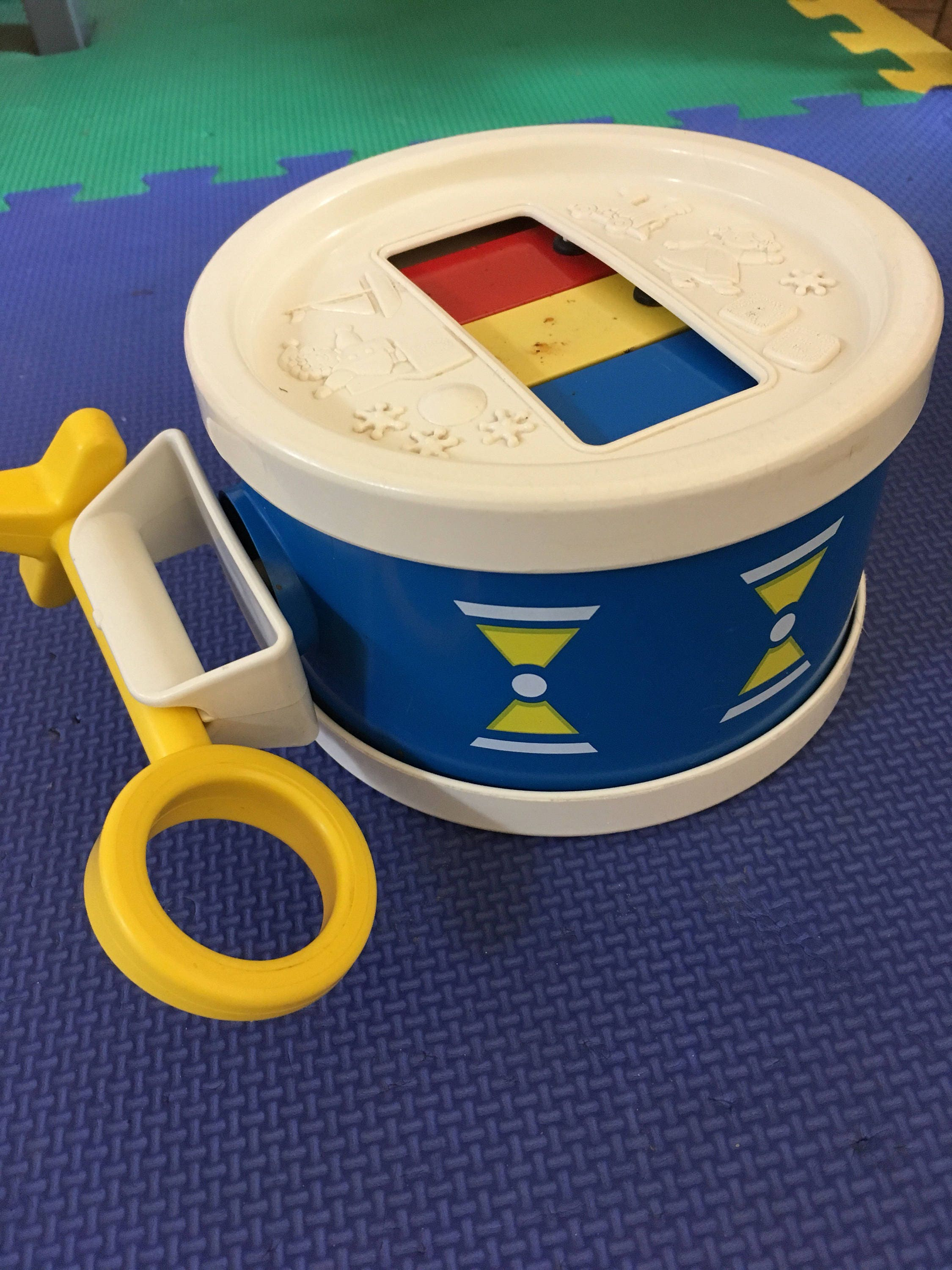 1970s Vintage Fisher Price Childs Drum  Xylophone