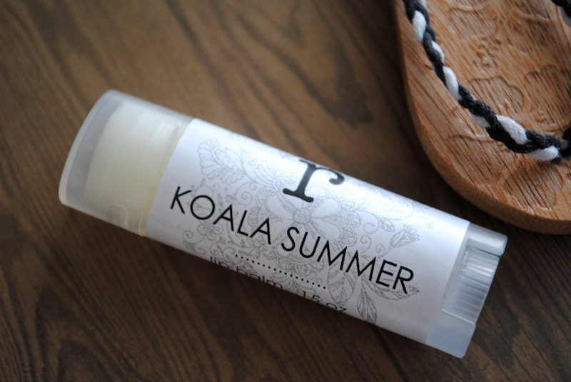Koala Summer Lip Balm - Beeswax, Shea Butter, Coconut Oil, Australia, Queensland, Tamborine Mountain