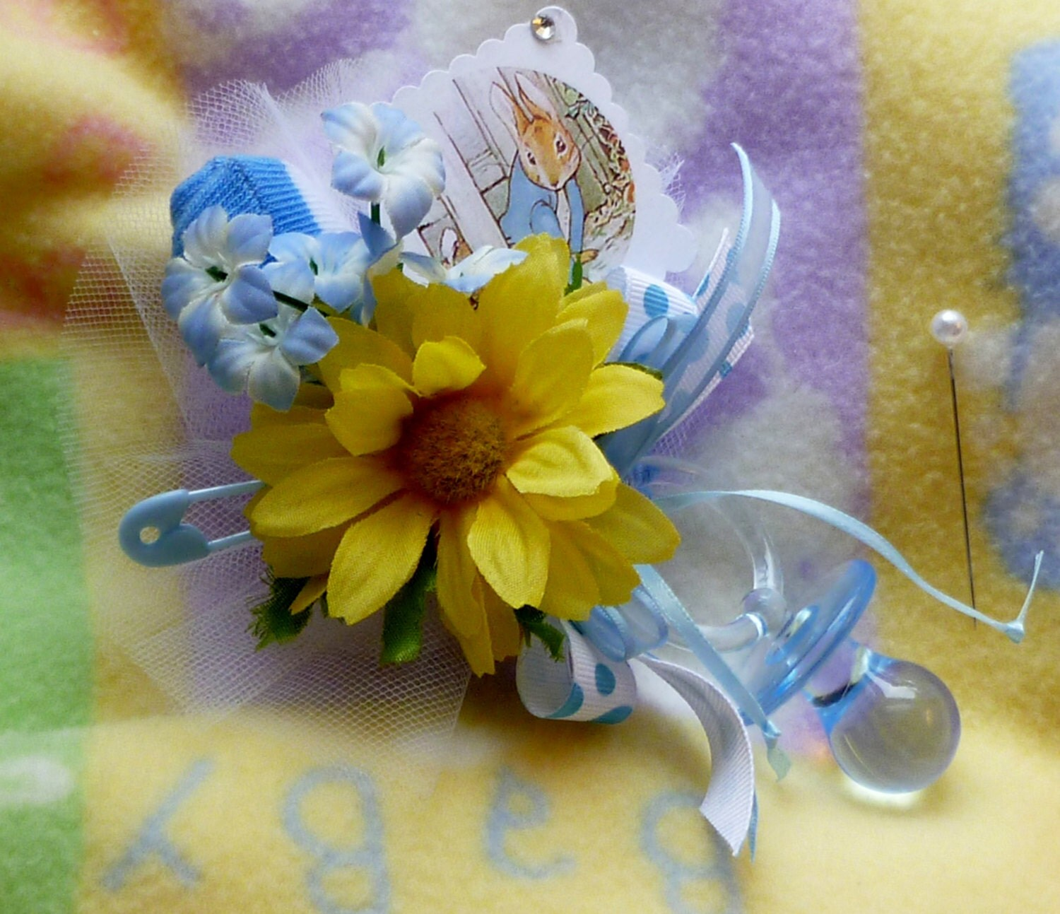mom to be corsage peter rabbit theme boy by mollbelldesigns