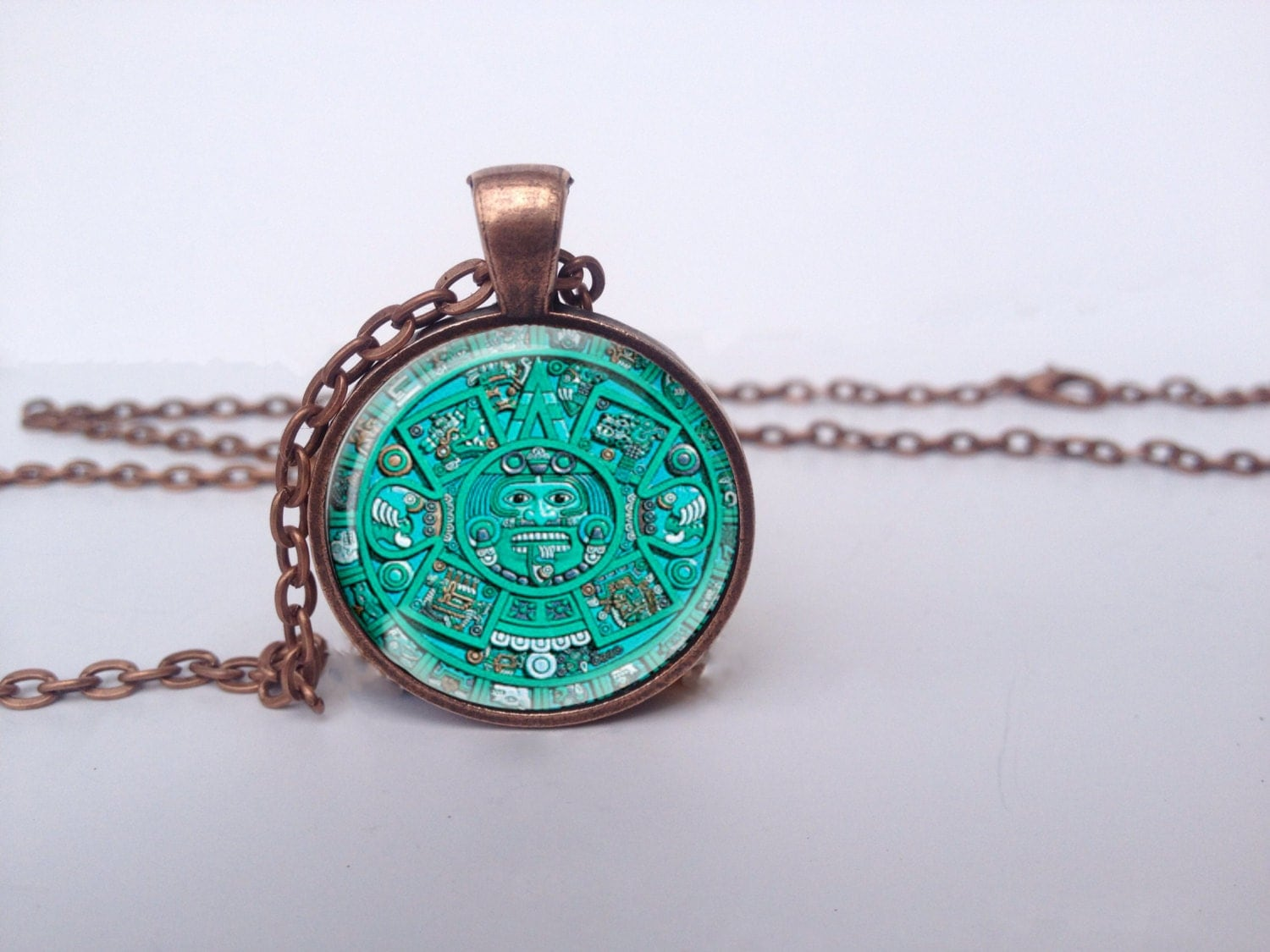 aztec necklace ancient jewelry aztec pendant by