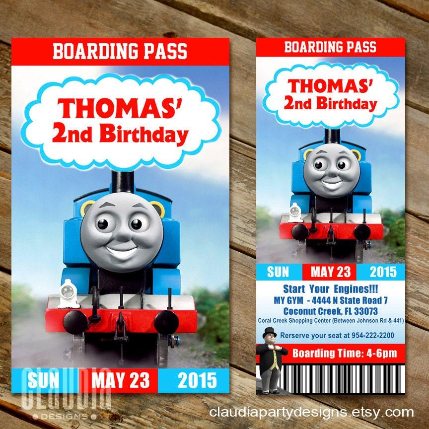 train ticket birthday invitation template – Thomas the Tank Engine Party Invites