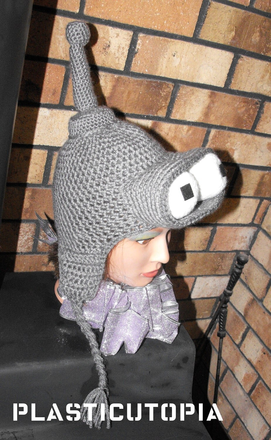 Sci-Fi Robot Hat with Ear Flaps