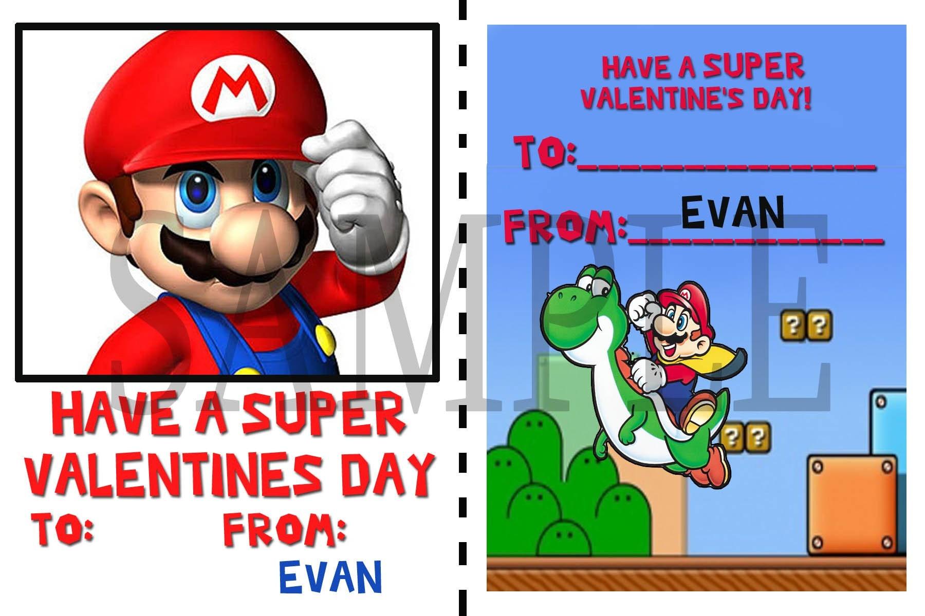Mario Bros Valentine Cards Related Keywords Suggestions Mario – Super Mario Bros Valentine Cards