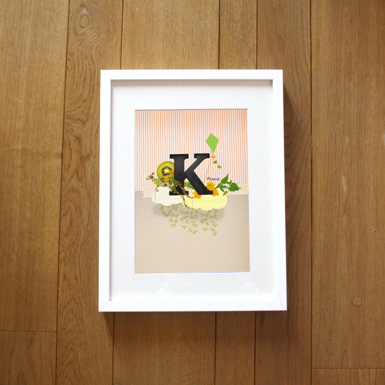 Alphabet Print 20x30cm, the letter K