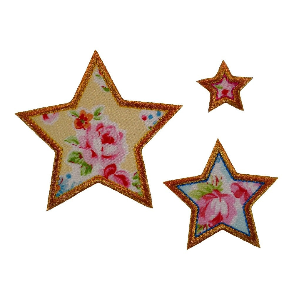 Seeing stars appliques machine embroidery by