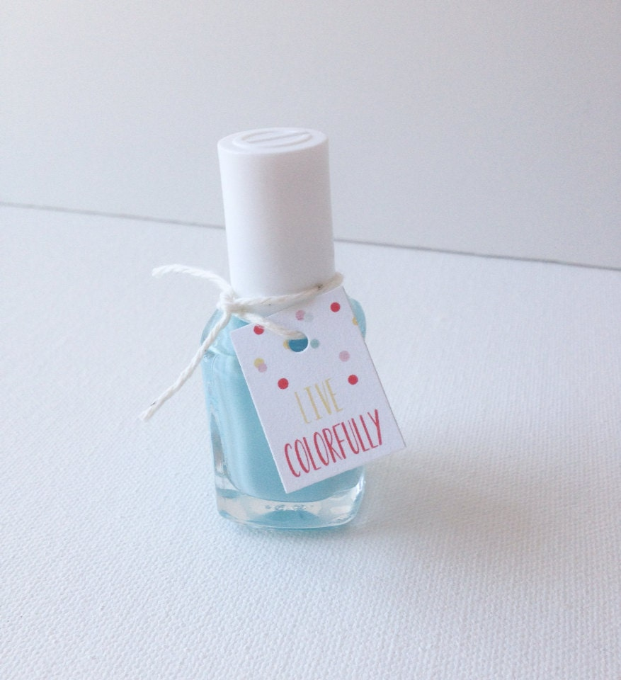 Bridal Shower Baby Shower Favor Tags Nail Polish By