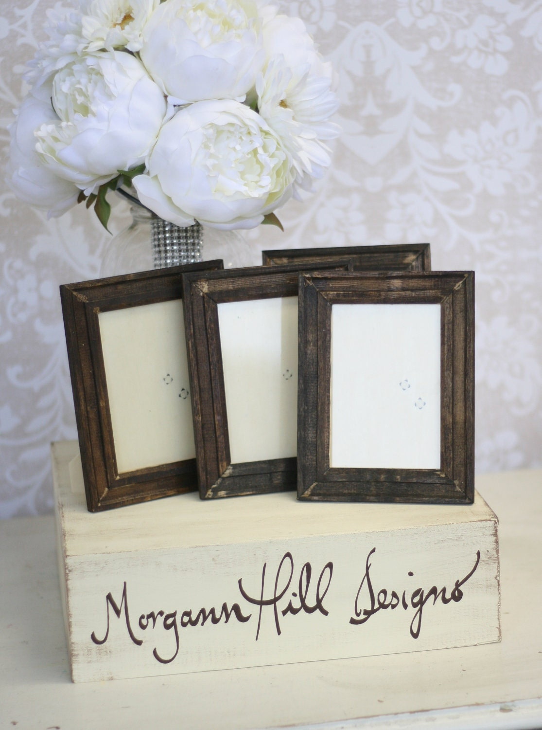 Items Similar To Rustic Wedding Frames Table Number Signs Shabby Chic Decor SET Of 4 On Etsy