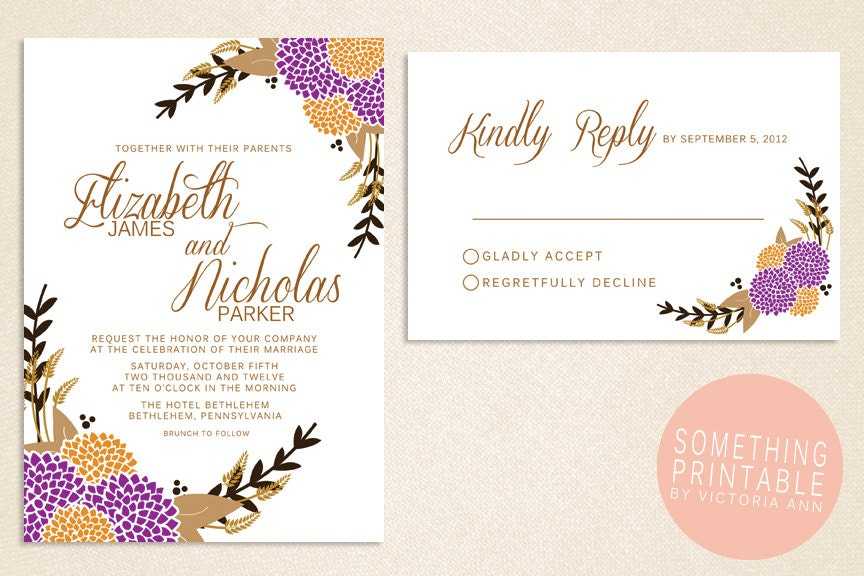 Wild violet wedding