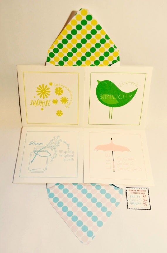 SPRING, Stationary, Greeting card, Bird, Umbrella, Floral, Ball Jar, Motivation Set