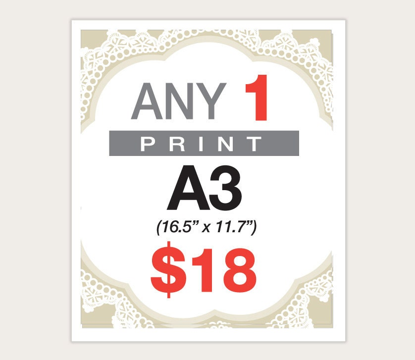 A3 size posters