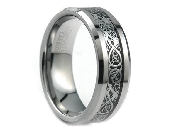 personalized engraved tungsten carbide wedding by