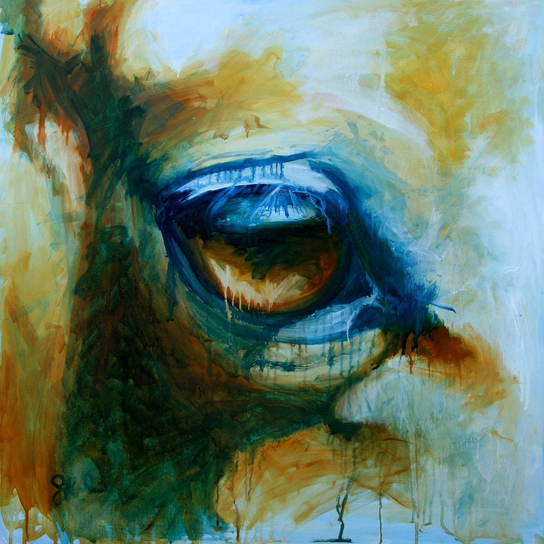 horse look i original oil painting by benedictegele on etsy