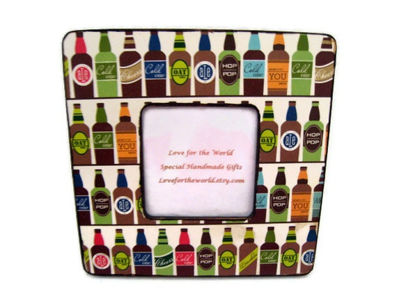 Etsy your place to buy and sell all things handmade for Beer bottle picture frame