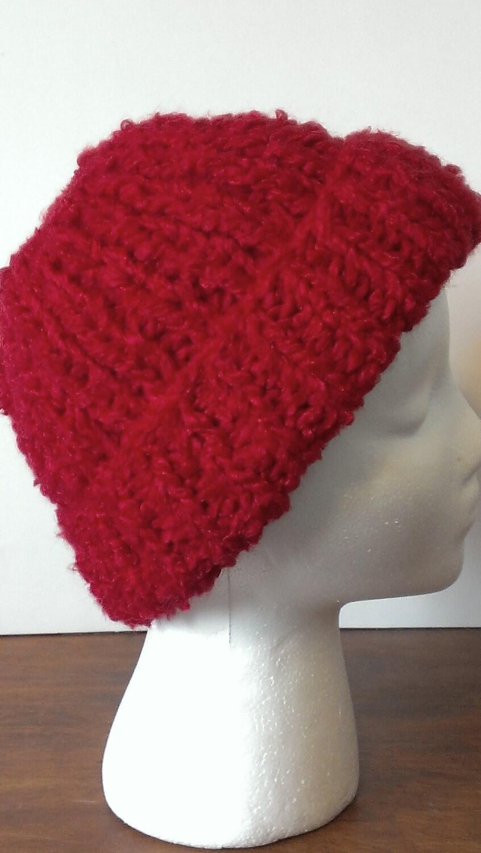 Loom Knit Rib Stitch Hat : Camp Gladiator Beanie Hat by MaplePeaches on Etsy