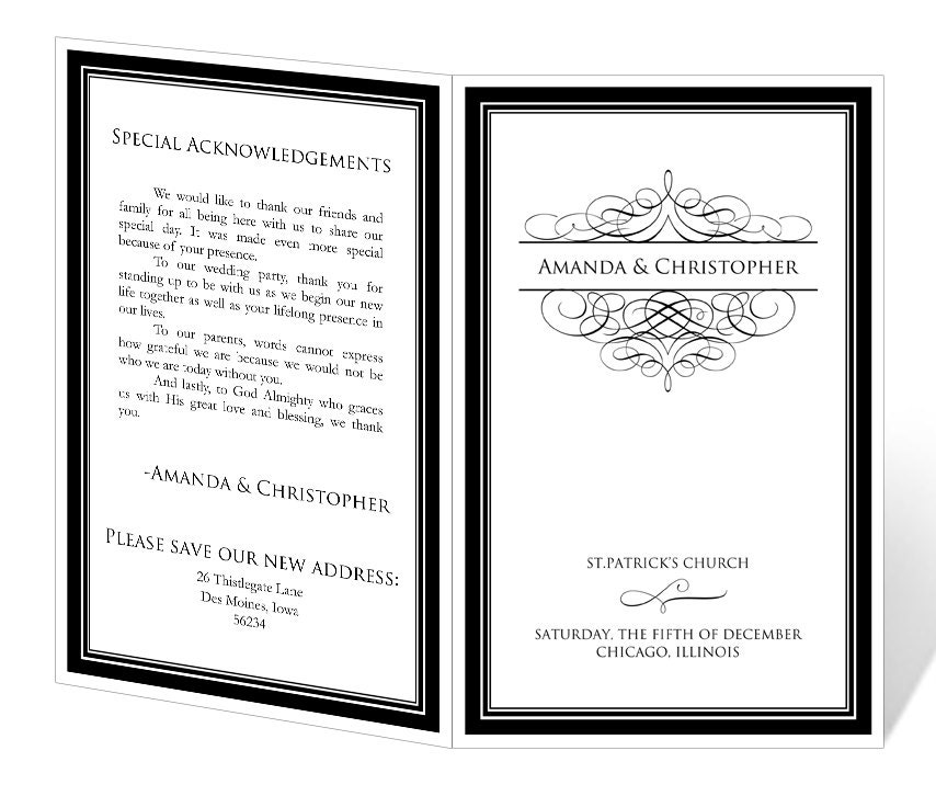 Instant download wedding program template elegant by 43lucy for Etsy shop policies template