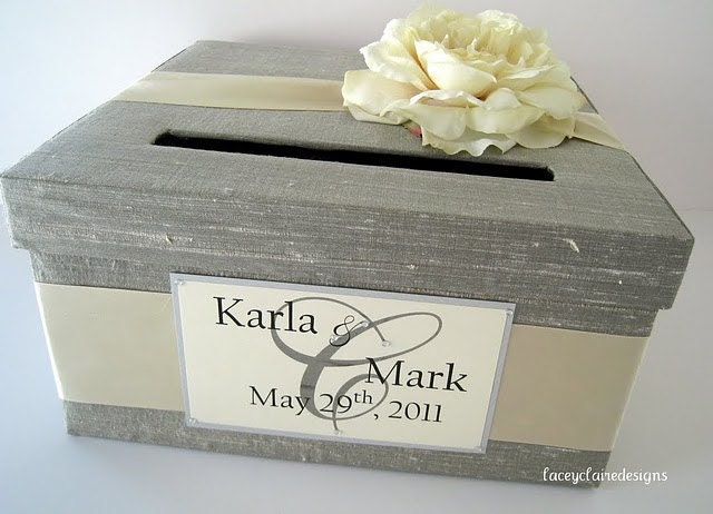 Wedding Card Box Wedding Card Holder Wedding By LaceyClaireDesigns