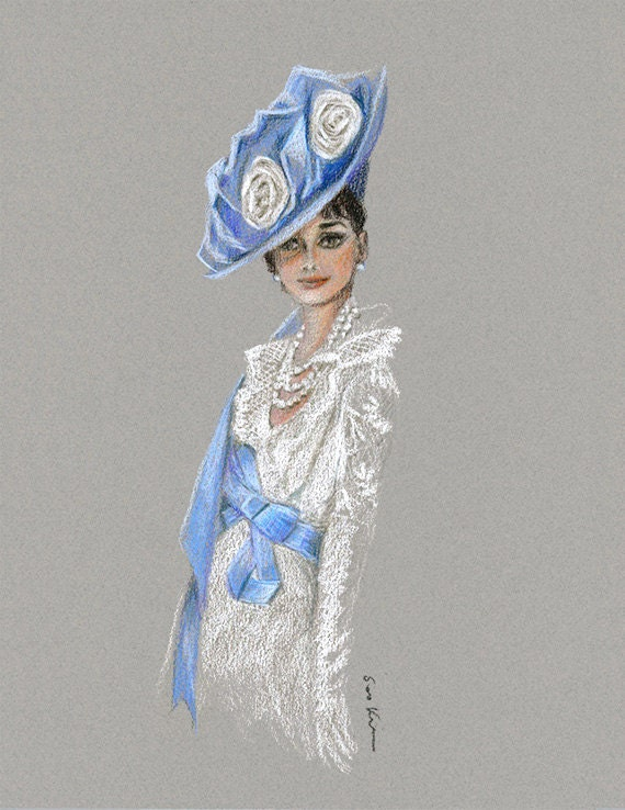 Audrey Hepburn My Fair Lady Colored Pencil Drawing By