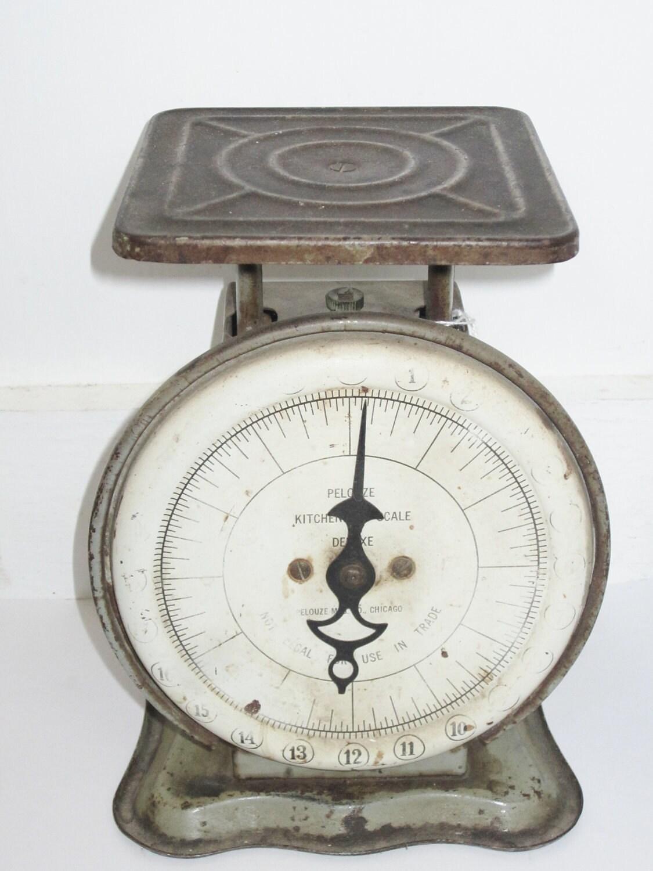 Vintage rustic kitchen scale primitive pelouze by theemae74 for Rustic kitchen scale