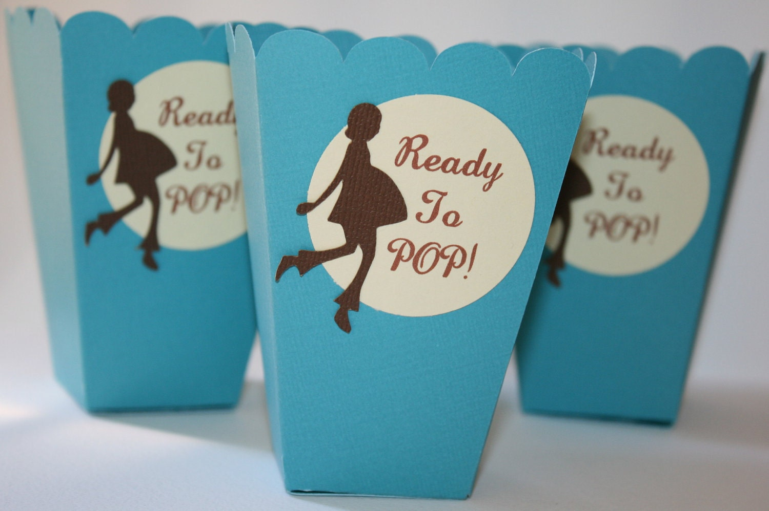 Items similar to 25 popcorn boxes ready to pop choose your colors on etsy for Ready to pop popcorn boxes
