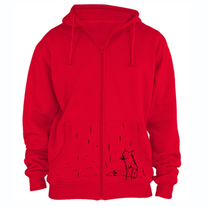 Fox hoodie hipster sweatshirt american apparel unusual hooded shirt street style hoodie LIMITED STOCK