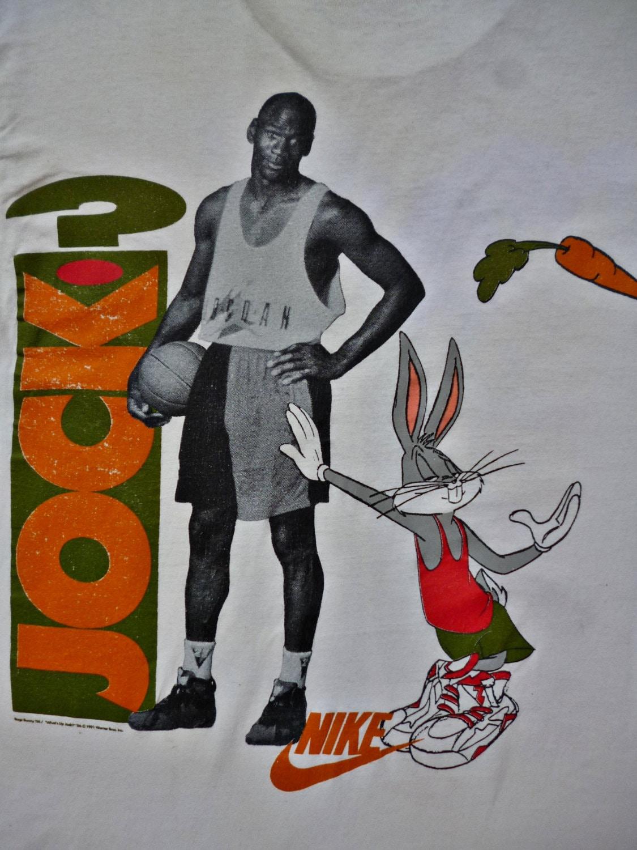 Vintage NIKE Space Jam Bugs Bunny Whats Up Jock Michael Jordan
