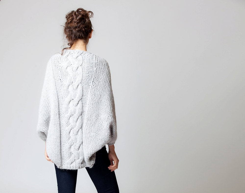 Hand knitted cable cardigan - ColeHands
