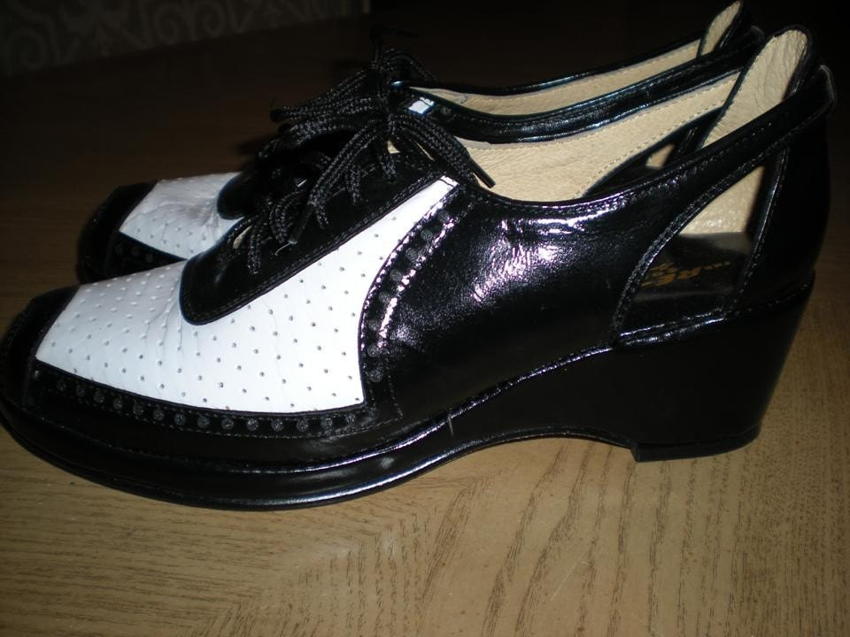 two tone black white spectator oxfords by remix by