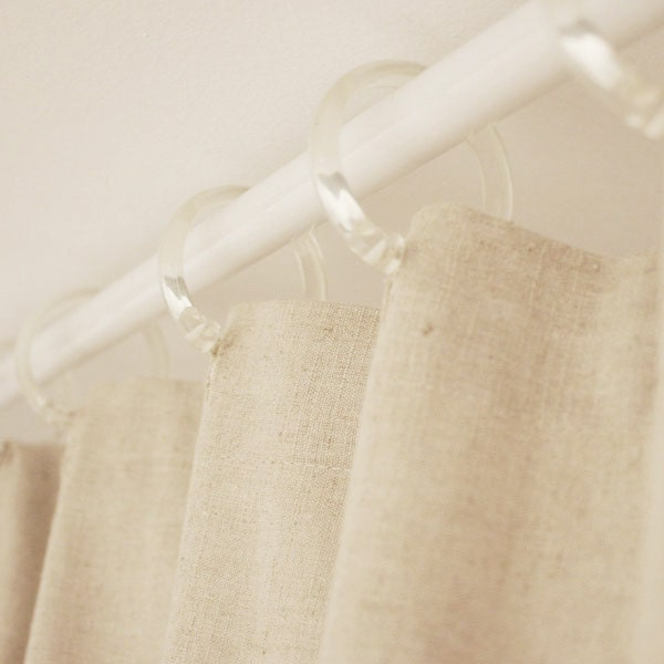 36x72 organic hemp linen shower curtain by wildcanaryshop